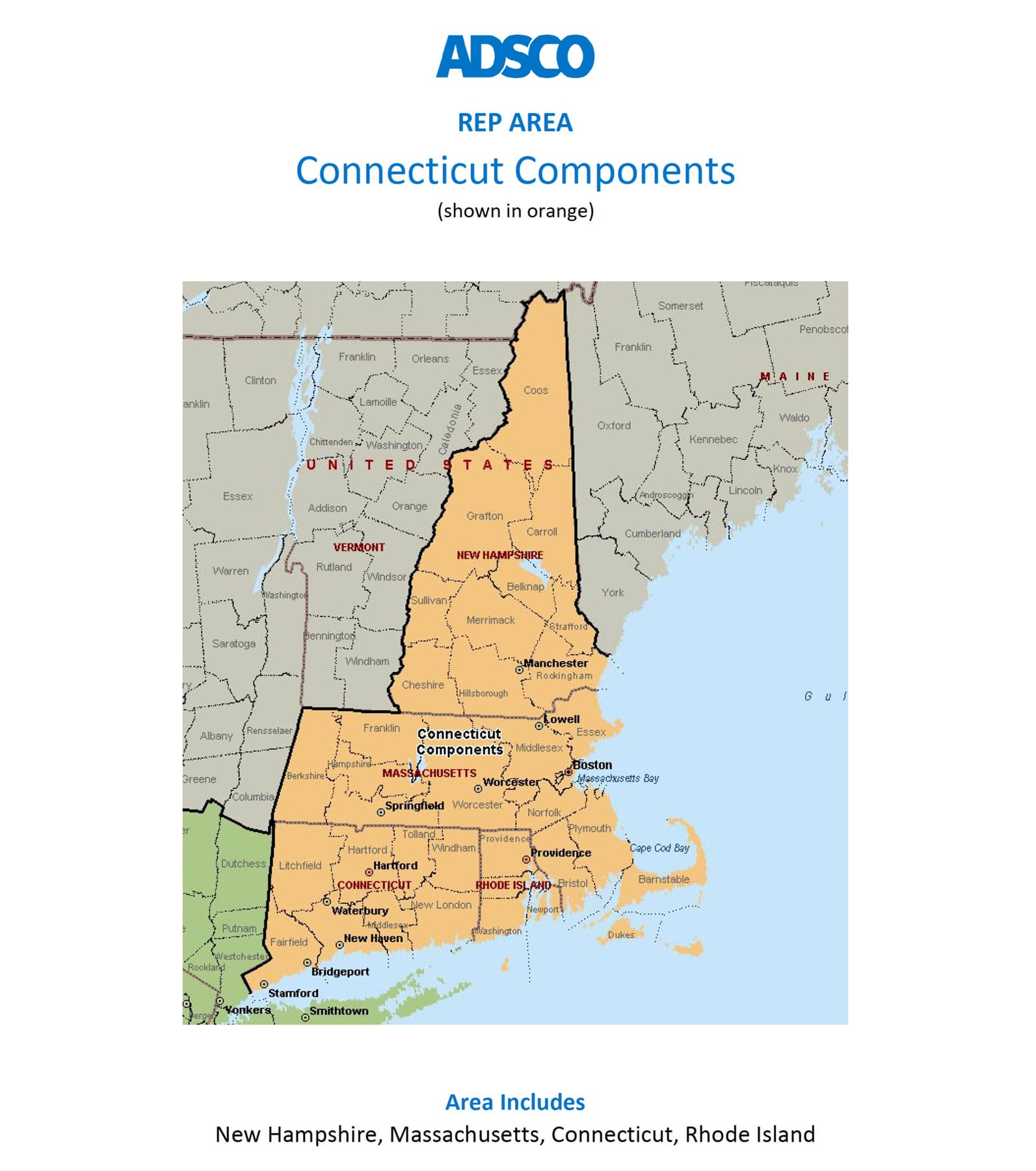 Adsco Rep Connecticut Components