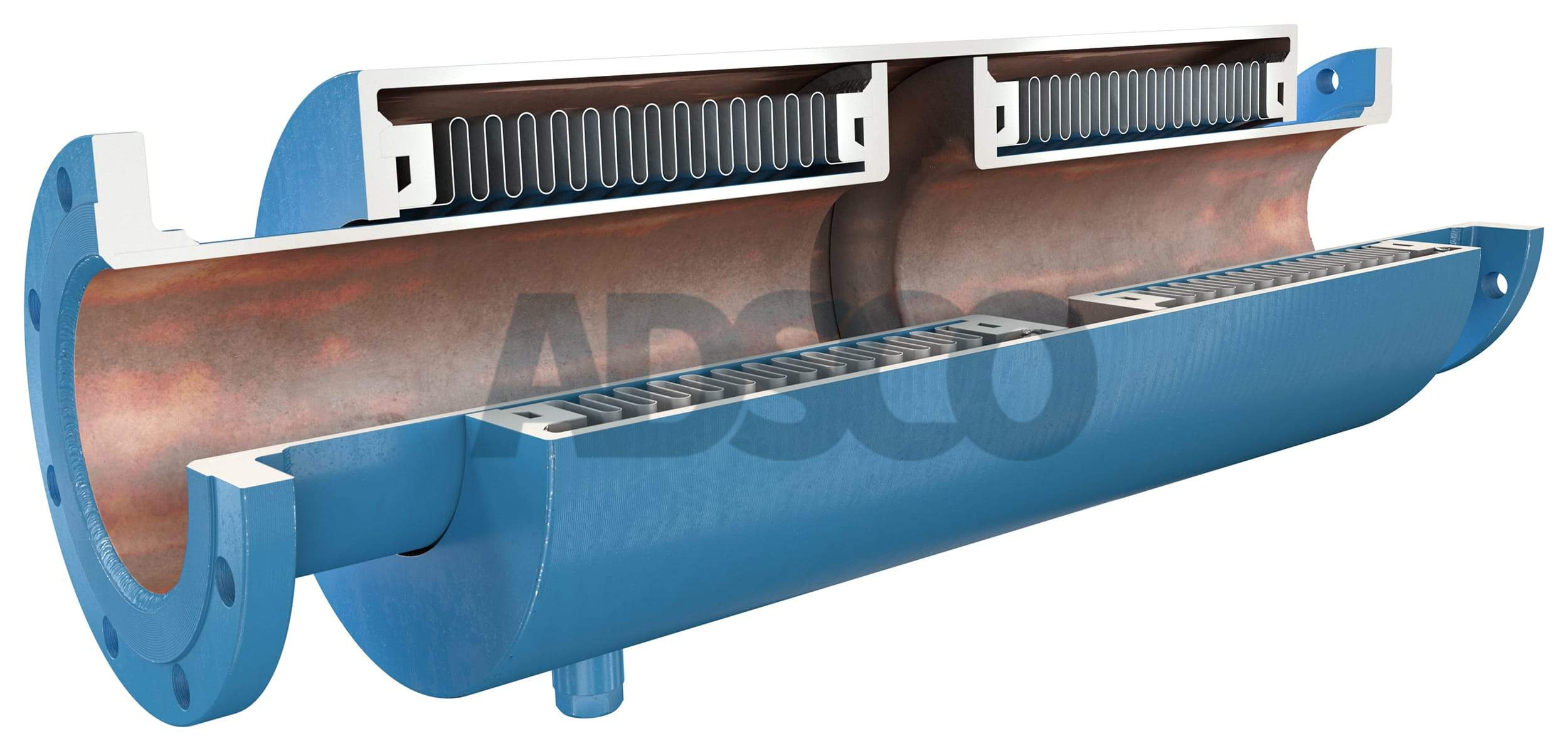 ADSCO pressure master double bellows joint with flange ends
