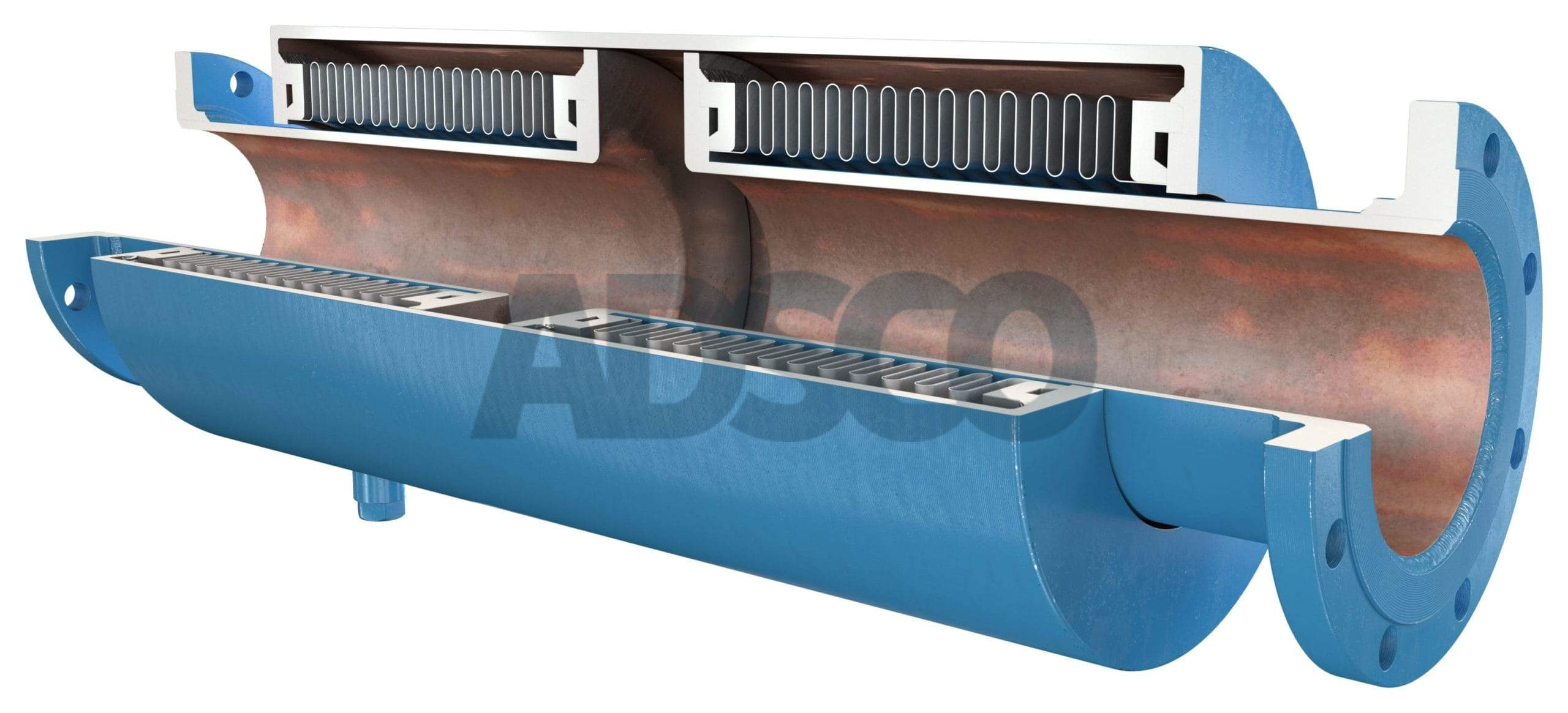 ADSCO flanged ends pressure master double bellows joint