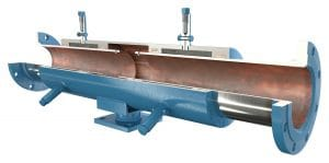ADSCO slip type expansion joints with flanges and stand
