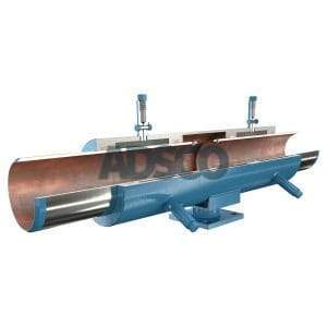 ADSCO weld ends double slip joint with stand